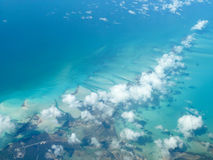 Вид с воздуха карибского острова Стоковые Фото