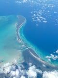 Вид с воздуха карибского острова Стоковое Фото
