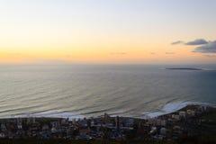 Вид с воздуха Кейптауна от холма сигнала, Южной Африки Стоковое фото RF
