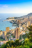 Вид с воздуха княжества Монако Монте-Карло. Лазурное побережье. Франция стоковое фото