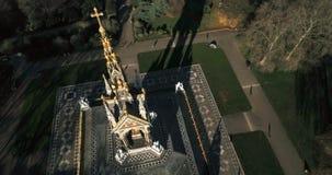 Вид с воздуха королевского мемориала Альберта в Лондоне стоковая фотография rf
