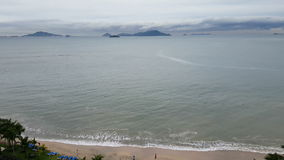 Вид с воздуха красивого пляжа на тропической погоде акции видеоматериалы