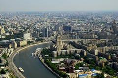 Вид с воздуха к Москве, России Стоковые Фото