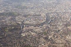 Вид с воздуха Лондона, Великобритании стоковое изображение