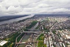 Вид с воздуха Манхаттана, Нью-Йорка, США Стоковые Изображения RF