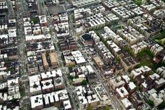 Вид с воздуха Манхаттана, Нью-Йорка, США Стоковые Изображения