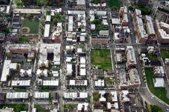 Вид с воздуха Манхаттана, Нью-Йорк, США Стоковое Изображение