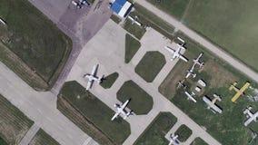 Вид с воздуха малого авиапорта Bolshoe Gryzlovo видеоматериал