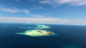 Вид с воздуха Мальдивов Стоковые Изображения