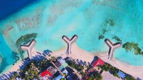 Вид с воздуха Мальдивов Стоковое фото RF