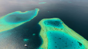 Вид с воздуха Мальдивов Стоковое Изображение RF
