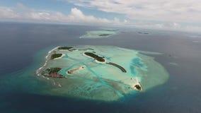 Вид с воздуха Мальдивов сток-видео