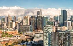 Вид с воздуха Мельбурна с небоскребами города Стоковое Изображение RF