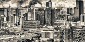 Вид с воздуха Мельбурна с небоскребами города Стоковое Фото