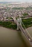 Вид с воздуха моста Джорджа Вашингтона, Нью-Йорка Стоковые Фото