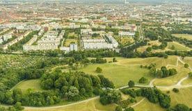 Вид с воздуха Мюнхена, Баварии, Германии Стоковое Изображение