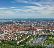 Вид с воздуха Мюнхена. Мюнхен, Бавария, Германия стоковая фотография rf