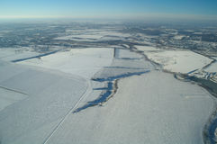 Вид с воздуха над аграрным заводом стоковые фотографии rf