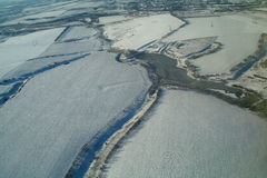 Вид с воздуха над аграрным заводом стоковая фотография rf