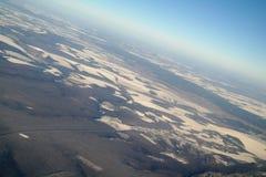 Вид с воздуха над аграрным заводом стоковые изображения