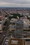 Вид с воздуха над Берлином от Fernsehturm Стоковая Фотография