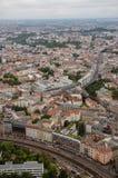 Вид с воздуха над Берлином от Fernsehturm Стоковое Изображение