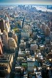 Осмотрите над более низким нью-йорк Манхаттана Стоковая Фотография