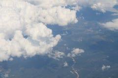Вид с воздуха над Европой Стоковое фото RF