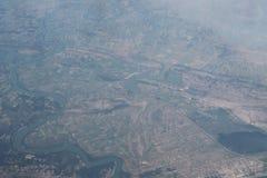 Вид с воздуха над Европой Стоковое Фото