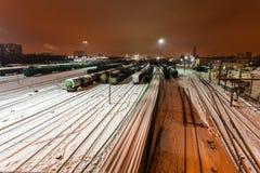 Вид с воздуха на железнодорожном вокзале Стоковые Изображения
