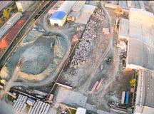 Вид с воздуха на заводе JSC Tyumennerud Россия Стоковое Изображение