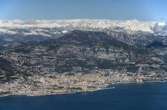 Вид с воздуха на Монако Стоковое Изображение
