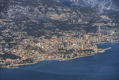 Вид с воздуха на Монако Стоковые Фотографии RF