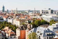 Вид с воздуха над Мюнхеном стоковое изображение rf