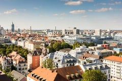 Вид с воздуха над Мюнхеном стоковые изображения