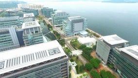 Вид с воздуха над научным парком видеоматериал