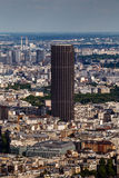 Вид с воздуха на Париже и Montparnasse от Эйфелева башни Стоковые Изображения RF