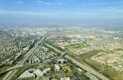 Вид с воздуха на полпути района, Сан-Диего Стоковое Фото