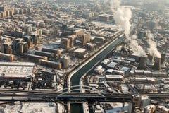 Вид с воздуха на проходе Basarab Стоковые Фотографии RF