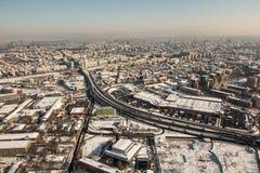Вид с воздуха на проходе Basarab Стоковое Фото