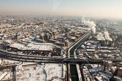 Вид с воздуха на проходе Basarab Стоковые Изображения