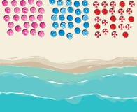Вид с воздуха над солнечным пляжем бесплатная иллюстрация