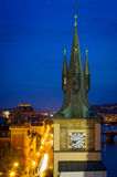 Вид с воздуха над старым городком в Праге Стоковое Изображение