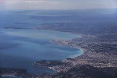 Вид с воздуха на славной Франции Стоковое Изображение RF