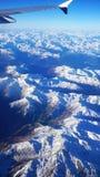 Вид с воздуха на швейцарских горных вершинах стоковые фотографии rf