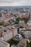 Вид с воздуха над Berlinfrom Fernsehturm Стоковые Изображения