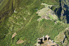 Вид с воздуха на picchu machu Стоковая Фотография