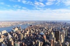Вид с воздуха небоскребов Нью-Йорка Стоковое Изображение