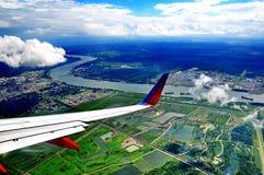 Вид с воздуха Нового Орлеана, ЛА Стоковые Фотографии RF