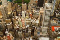 Вид с воздуха Нью-Йорка, США стоковое фото rf